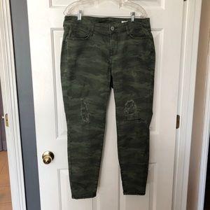 Arizona Jeans Distressed Camo Jeggings